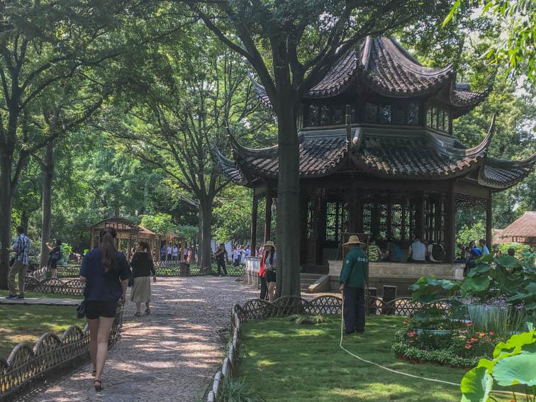 Suzhou Garten des bescheidenen Beamten Pavillon
