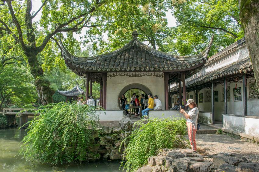 Suzhou Garten des bescheidenen Beamten Pavillons