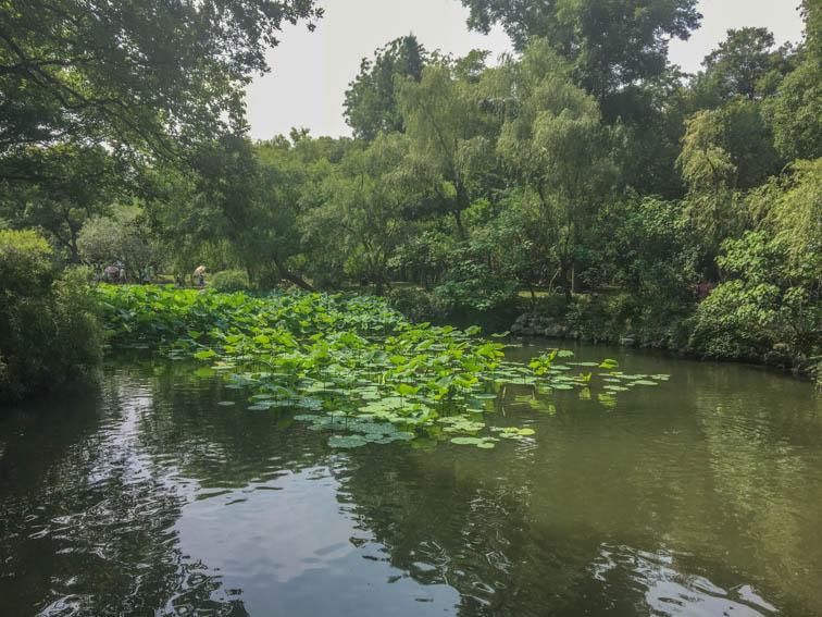 Suzhou Garten des bescheidenen Beamten Teich