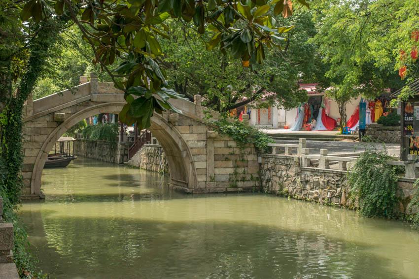 Suzhou Wasserstadt Mudu Brücke