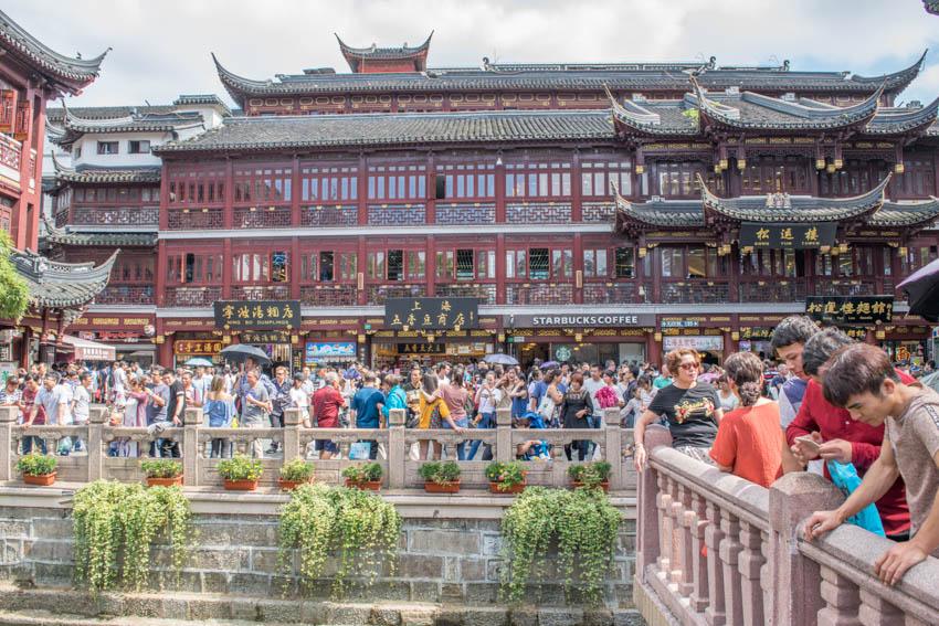 Shanghai Altstadt Menschenmassen