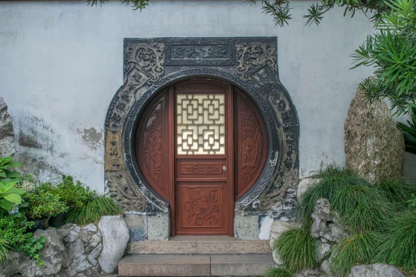 Yu-Garten Tür Shanghai