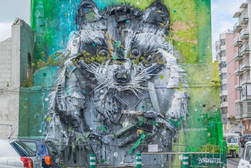 Lissabon Belem Street Art