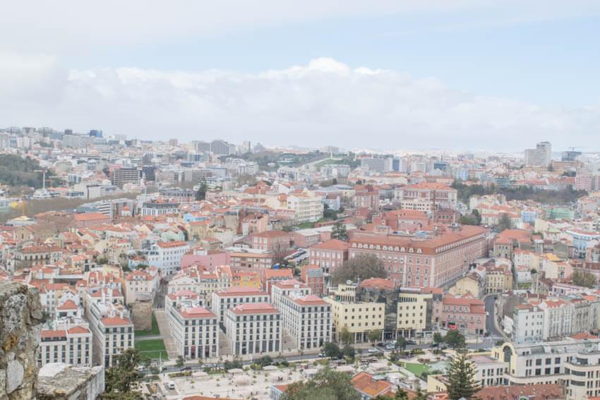 Lissabon Castelo Sao Jorge Aussicht II
