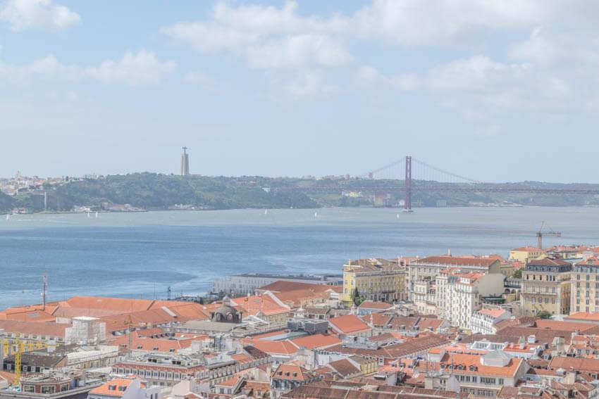 Lissabon Castelo Sao Jorge Aussicht