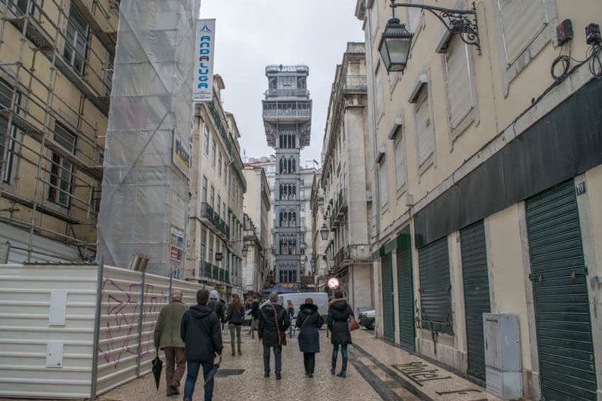 Lissabon Elevador de Santa Justa
