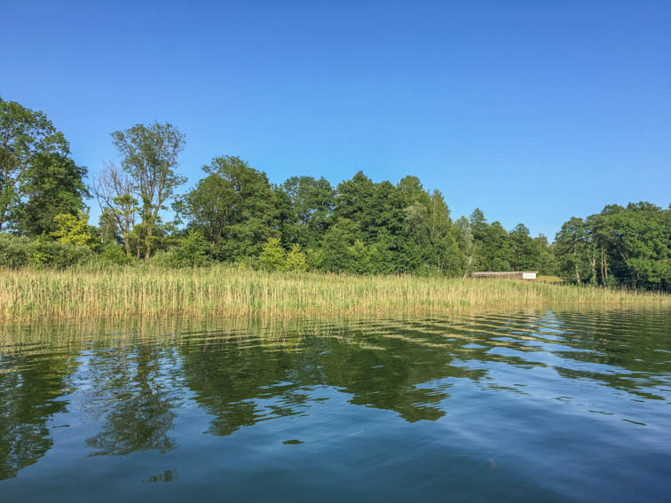 Floßfahrt auf der Mecklenburgischen Seenplatte Kleiner Pälitzsee