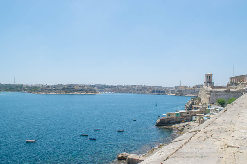 Blick zum Grand Harbour Valletta