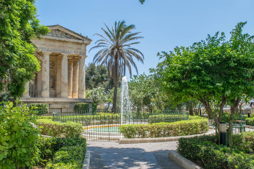 Lower Barrakka Gardens Valletta