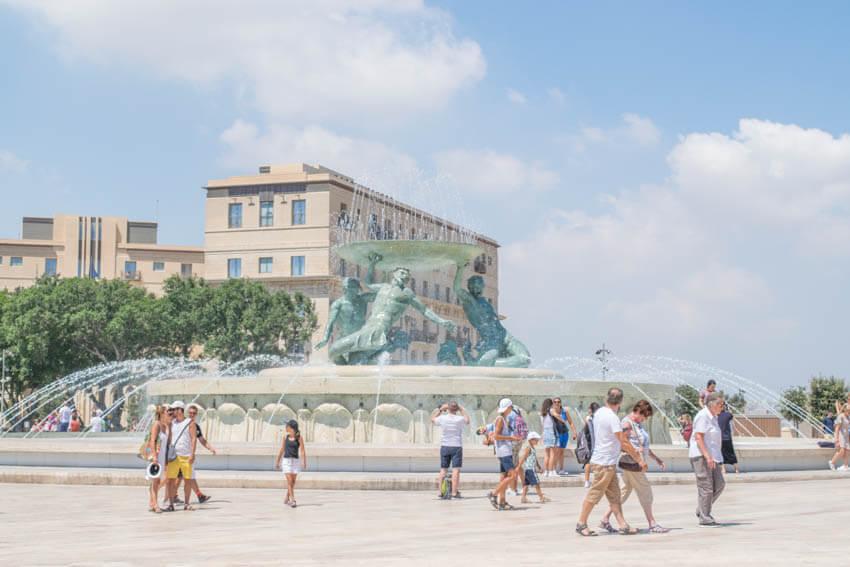 Malta Triton Brunnen