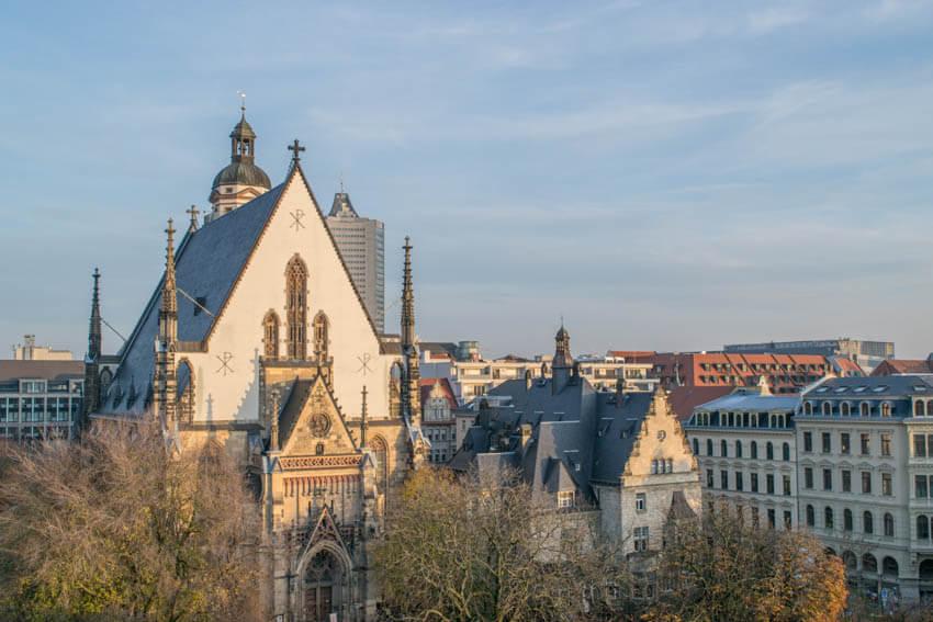 Thomaskirche Leipzig von Weitem