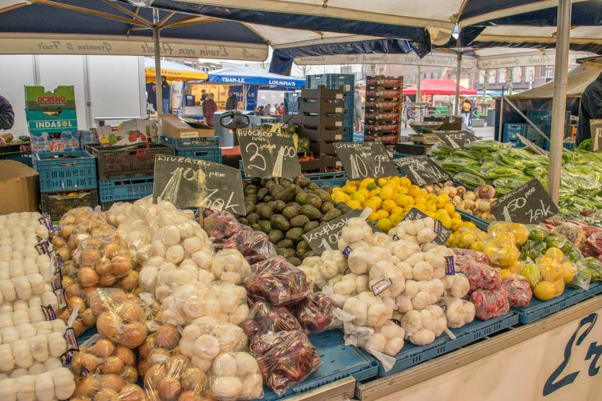 Wochenmarkt in Enschede Gemüse