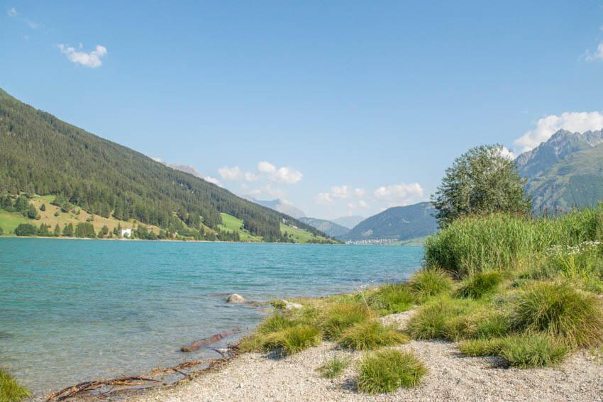 Reschensee Ufer