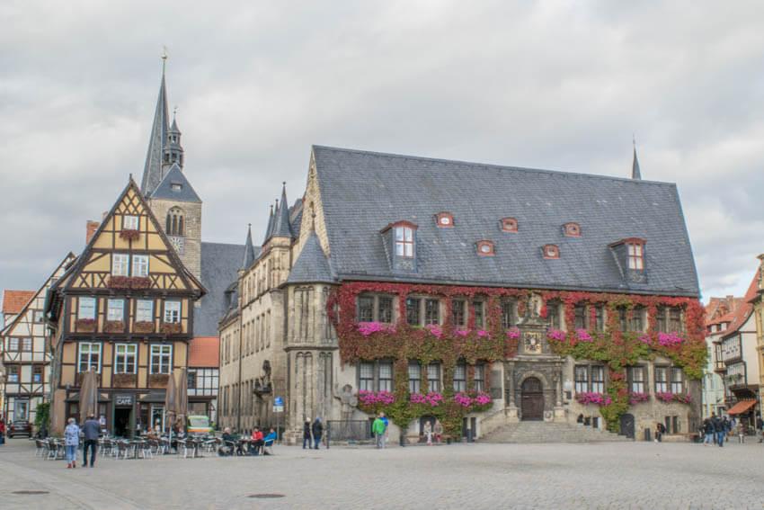 Rathaus Marktplatz Quedlinburg