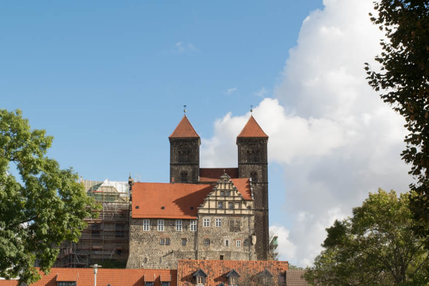 Stiftskirche St. Servatius und Schloss Quedlinburg